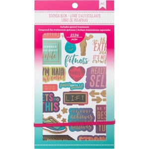 American Crafts: Fitness Planner Stickers 12-Page Book