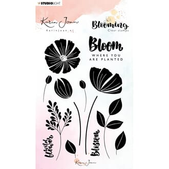 Studio Light: 01 Karin Joan Blooming Collection Clear Stamps