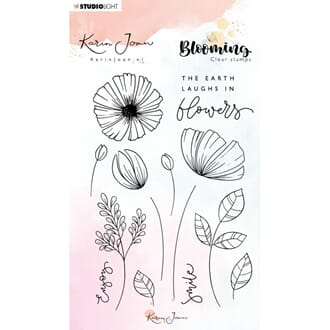 Studio Light: 02 Karin Joan Blooming Collection Clear Stamps