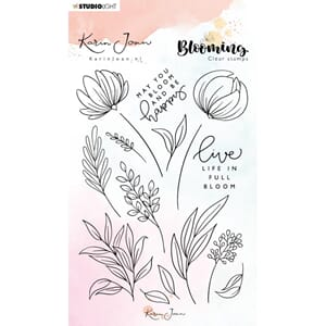 Studio Light: 04 Karin Joan Blooming Collection Clear Stamps
