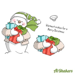 Art Impressions: Snowman - Shakers Card Set