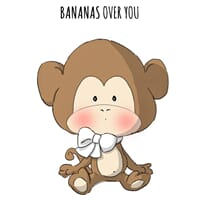 Art Impressions: Bananas Zoo Babies - Cling Rubber Stamp Set