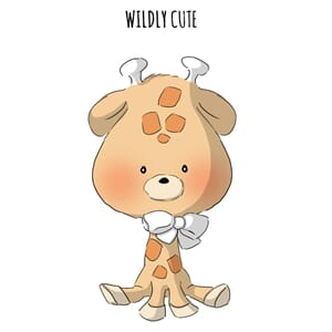 Art Impressions: Wildly Cute Zoo Babies - Cling Rubber Stamp