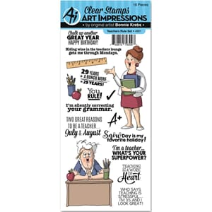 Art Impressions: Teachers Rule Clear Stamp Set