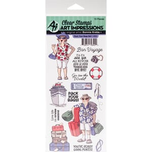 Art Impressions: Pack Your Bags Clear Stamp Set