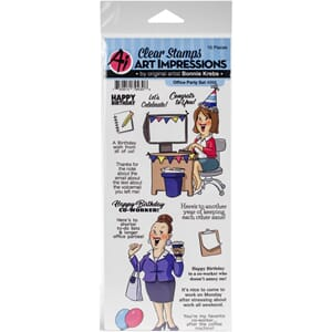 Art Impressions: Office Party Clear Stamp Set