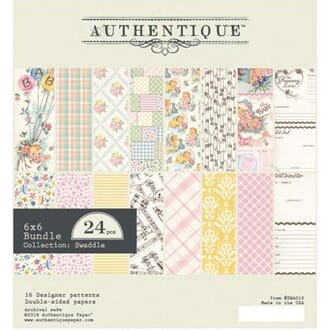 Authentique: Swaddle Girl Cardstock Pad, 6x6, 24/Pk