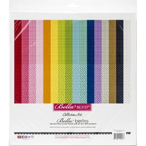 Bella Blvd: Rainbow Bella Besties Paper Pad, 12x12, 32/Pkg