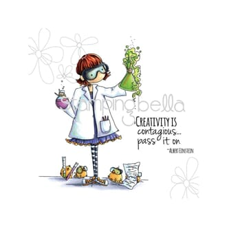 Stamping Bella: Sage The Scientist Cling Stamps, 2/Pkg