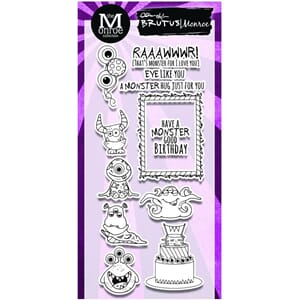 Brutus Monroe: Monster Party Clear Stamps, 4x8 inch