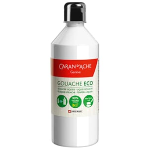 Caran d'Ache: White - Gouache ECO liquid, 500 ml