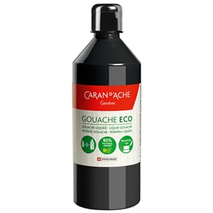 Caran d'Ache: Black - Gouache ECO liquid, 500 ml