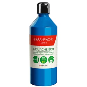 Caran d'Ache: Primary Cyan - Gouache ECO liquid, 500 ml