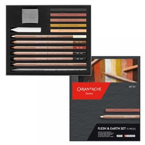 Caran d'Ache: Flesh & Earth set, 15/Pkg