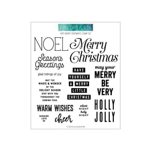 Concord & 9th: Very Merry Sentiments Clear Stamps, 6x6 inch