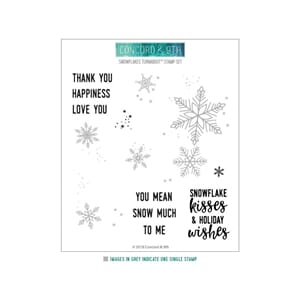 Concord & 9th: Snowflakes Turnabout Clear Stamps, 6x6 inch