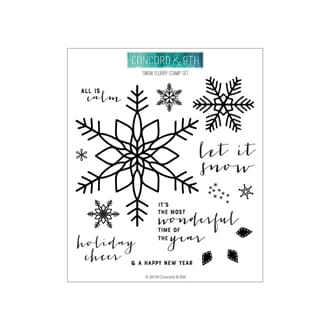 Concord & 9th: Snow Flurry Clear Stamps, 6x6 inch