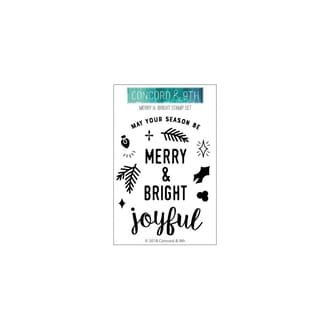 Concord & 9th: Merry & Bright Clear Stamps, 3x4 inch