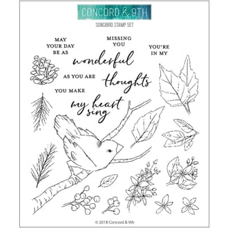 Concord & 9th: Songbird Clear Stamps, 6x6 inch