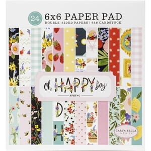 Carta Bella: Oh Happy Day Spring Paper Pad, 6x6, 24/Pkg
