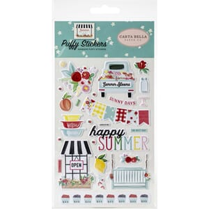 Carta Bella: Summer Market Puffy Stickers