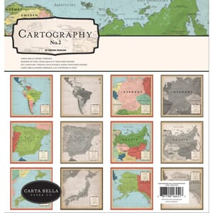 Carta Bella: Cartography No. 2 Collection Kit, 12x12 inch