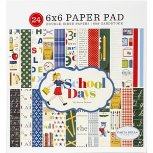Carta Bella: School Days Paper Pad, 6x6, 24/Pkg