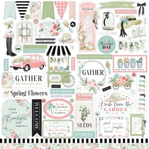 Carta Bella: Elements Flower Garden Stickers, 12x12