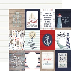 Carta Bella: 3x4 Journaling Cards - By The Sea