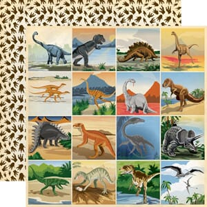 Carta Bella: 3x3 inch Journaling Cards - Dinosaurs
