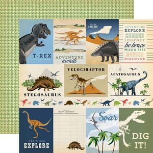 Carta Bella: 3x4 inch Journaling Cards - Dinosaurs