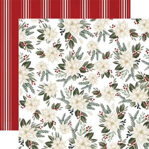 Carta Bella: Poinsettia Floral - Farmhouse Christmas