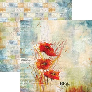Ciao Bella: Poppies Dance Double-Sided Cardstock