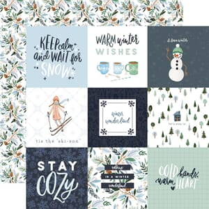 Carta Bella: 4x4 Journaling Cards - Winter Market