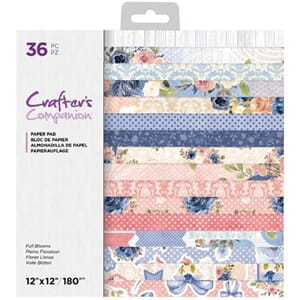 Crafters Comp. - Full Bloom Paper Pad, 12x12 inch