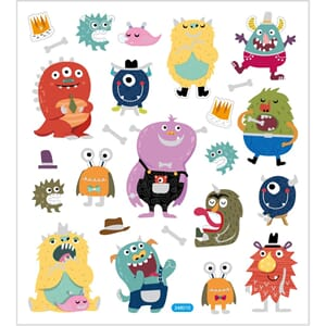 Stickers - Monstre, str 15x16.50 cm, 1 ark