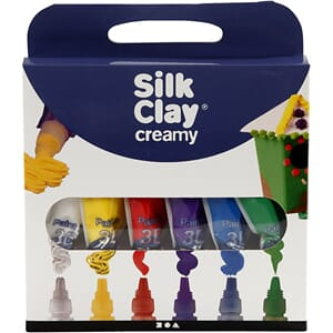 Silk Clay®, Creamy, ass. farger, 10x35g