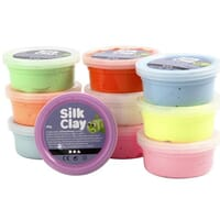 Silk Clay® , ass. farger, Basic 2, 10x40g