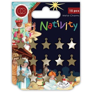 Craft Consortium: Stars Nativity Metal Charms 15/Pkg