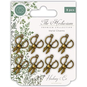 Craft Consortium: The Herbarium Herb Scissors Metal Charms