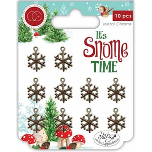 Craft Consortium: It's Snome Time Metal Charms Snowflakes