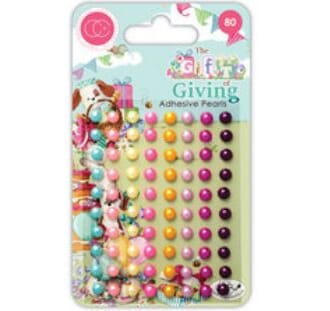 Craft Consortium: The Gift of Giving Adhesive Pearls, 80/Pkg