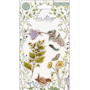 Craft Consortium: Wildflower Meadow Clear Stamps, 4x6 inch