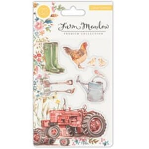 Craft Consortium: Farm Meadow Clear Stamps, 4x6 inch