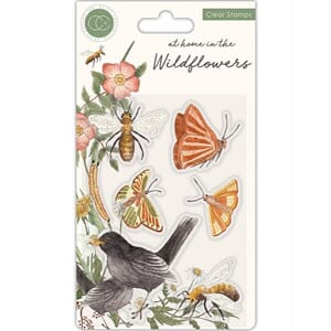 Craft Consortium: Wildflowers Clear Stamps, 4x6 inch