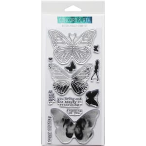 Concord & 9th: Butterfly Clear Stamps, 4x8