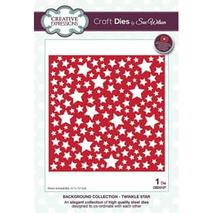 Creative Expressions: Twinkle Star Background die, 1/Pkg
