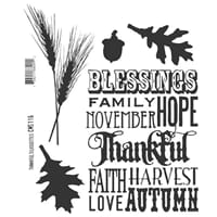 Tim Holtz: Thanksful Silhouettes - Cling Rubberstamp set