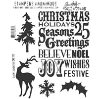 Tim Holtz: Seasons Silhouettes - Cling Rubberstamp set