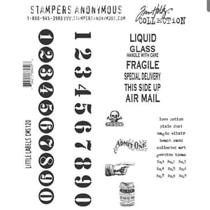 Tim Holtz: Little Labels - Cling Rubberstamp set